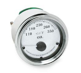 Harley-Davidson® Fairing Mount Oil Temperature Gauge - Fahrenheit 70900284