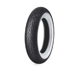 Harley-Davidson® Dunlop Tire Series- D402F MT90B16 Wide Whitewall- 16 in. Front, Dunlop 43118-92A