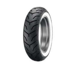 Harley-Davidson® Dunlop Tire Series- D407 180/65B16 Wide Whitewall- 16 in. Rear, Dunlop 43230-09