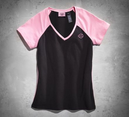 Harley-Davidson® Women's Pink Label V-Neck Tee 99175-10VW