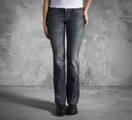 Women's Embellished Wing Bootcut Jeans, Harley-Davidson® 99186-12VW