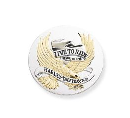 Harley-Davidson® 3.5 in. Live To Ride Gold Medallion 99027-90T