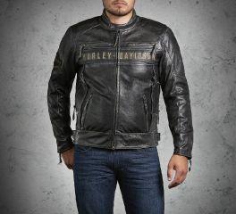 Harley-Davidson® Men's Passing Link Triple Vent Leather Jacket 98074-14VM