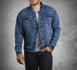 Harley-Davidson® Men's Denim Jacket with Eagle 99006-14VM