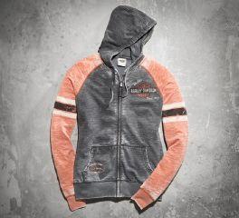 Harley-Davidson® Women's Genuine Oil Can Burnout Hoodie 99195-14VW