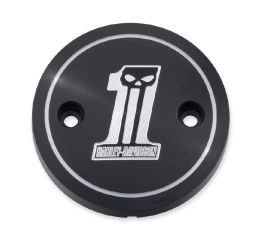 Harley-Davidson® Dark Custom Left Side Medallion 25700307