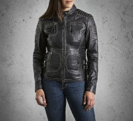 Harley-Davidson® Women's Agitator Leather Jacket 98086-15VW