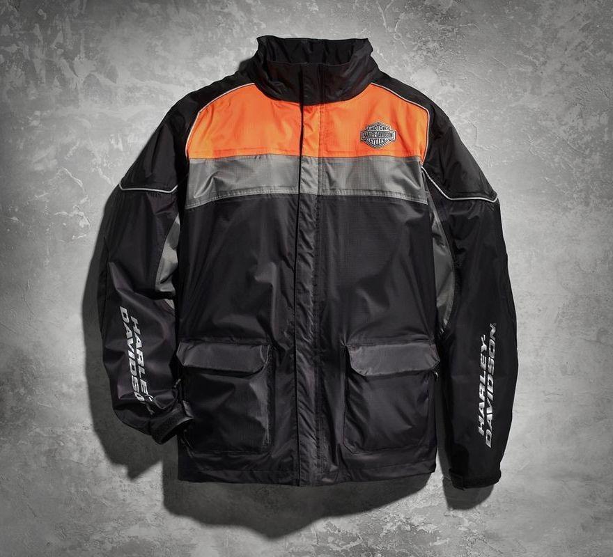 Harley Davidson 174 High Tail Colorblocked Hi Vis Rain Suit