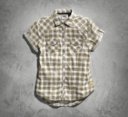 Harley-Davidson® Women's Genuine Short Sleeve Plaid Shirt 99136-15VW