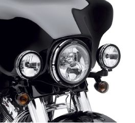 Harley-Davidson® Burst Collection Trim Ring - Auxiliary Lamps 61400255