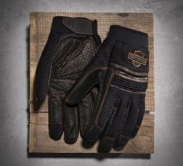 Harley-Davidson® Men's Saddle Mesh & Leather Gloves 98364-15VM