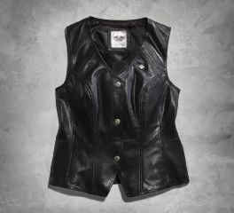 Harley-Davidson® Women's Essential Leather Vest 98093-16VW