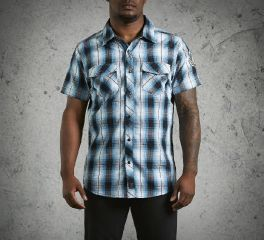 Men's Snap-Front Plaid Shirt 99024-16VM