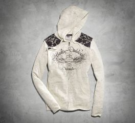 Harley-Davidson® Women's Lace Accent Hoodie 99151-16VW