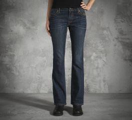 Harley-Davidson® Women's Boot Cut Contour Mid-Rise Jeans 99160-16VW