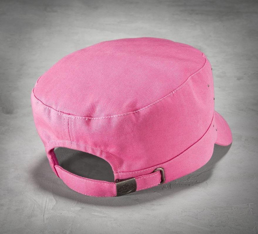 92fcdad45 Harley-Davidson® Women's Pink Label Crystal Flat Top Cap