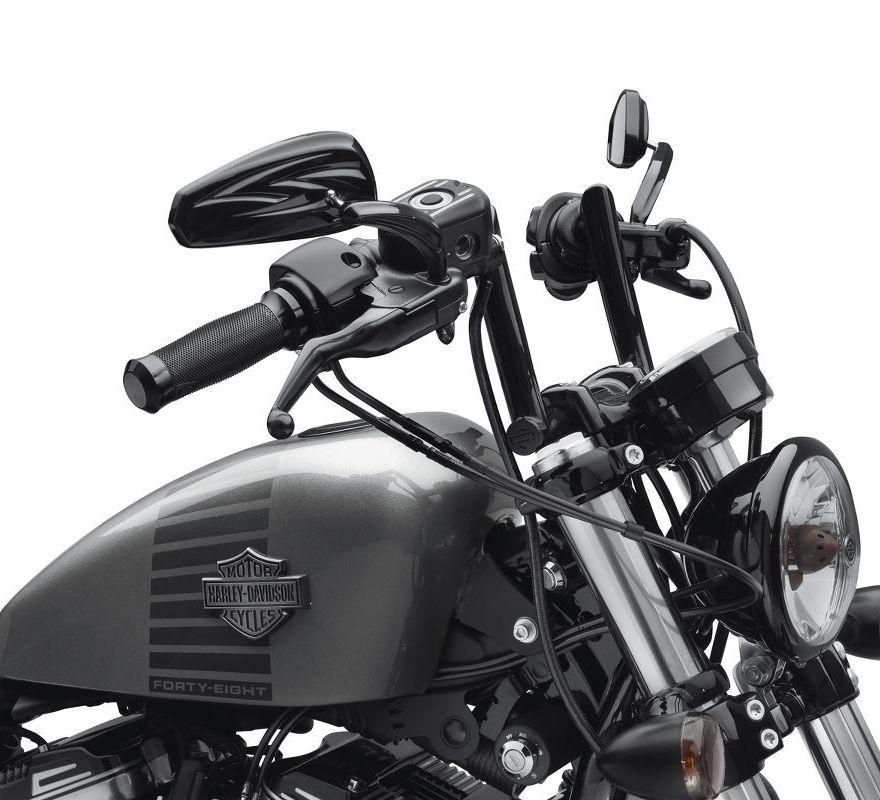 ... Harley-Davidson® Chizeled Lo Handlebar - Gloss Black 55800431 200ac67993e8e