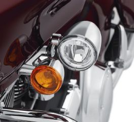 Harley-Davidson® Road Glide LED Fog Lamp Mount Kit - Chrome 68000183