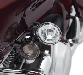 Harley-Davidson® Road Glide LED Fog Lamp Mount Kit - Gloss Black 68000184