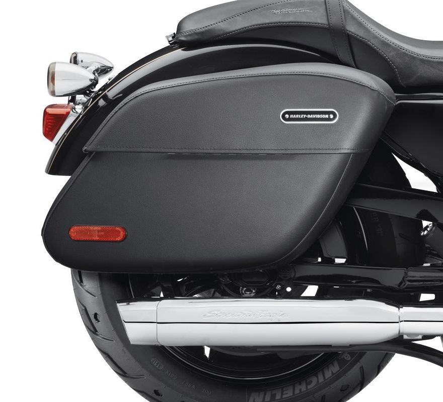 Leather Saddlebags Harley Davidson Softail Deluxe