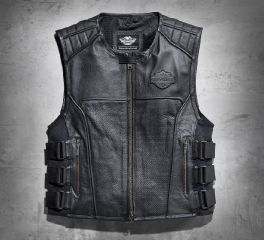 Harley-Davidson® Men's Swat II Leather Vest 98101-16VM