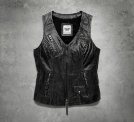 Harley-Davidson® Women's Dust Rider Leather Vest 98103-16VW