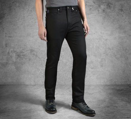 Harley-Davidson® Men's Black Slim Fit Black Label Jeans 99032-16VM