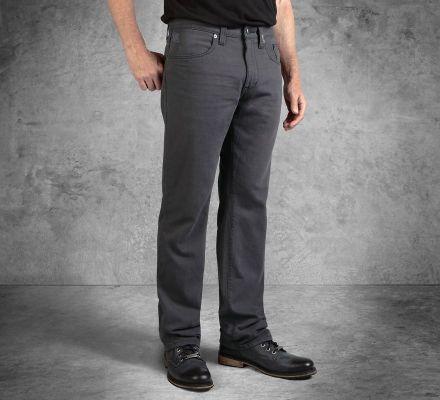 Harley-Davidson® Men's Grey Straight Leg Fit Black Label Jeans 99033-16VM