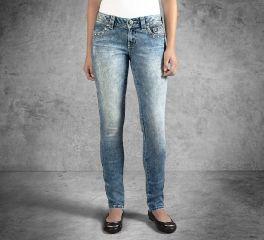 Harley-Davidson® Women's Skinny Embellished Low- Rise Jean 99161-16VW