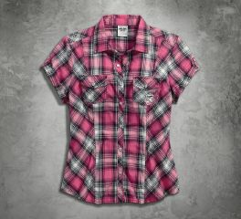 Harley-Davidson® Women's Pink Label Snap Front Shirt 99168-16VW