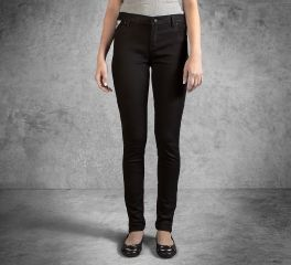 Women's Skinny Zipper Mid-Rise Jeans