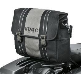 Harley-Davidson® HDMC Messenger Bag - Black/Silver 93300099