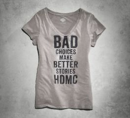 Women's Bad Choices V-Neck Tee 96204-16VW