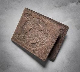 Men's Eagle Distressed Wallet 97717-16VM