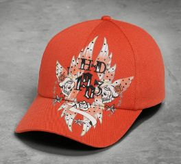 Harley-Davidson® Women's Skull & Flower Cap 97887-16VW