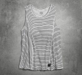 Women's Printed Stripe Slub Tank
