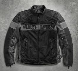 Harley-Davidson® Men's Mecca Textile & Mesh Riding Jacket 98295-17VM
