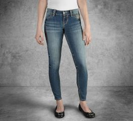 Harley-Davidson® Women's Skinny Low-Rise Jeans 99130-17VW