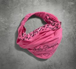 Harley-Davidson® Women's Pink Label Leopard Accent Headwrap 99569-17VW
