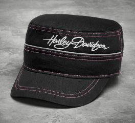 Harley-Davidson® Women's Pink Label Metallic Flat Top Cap 99570-17VW