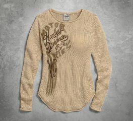 Harley-Davidson® Women's Lightweight Loose Knit Sweater 96011-17VW