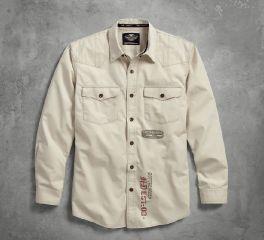 Men's Stitched Yoke Twill Shirt