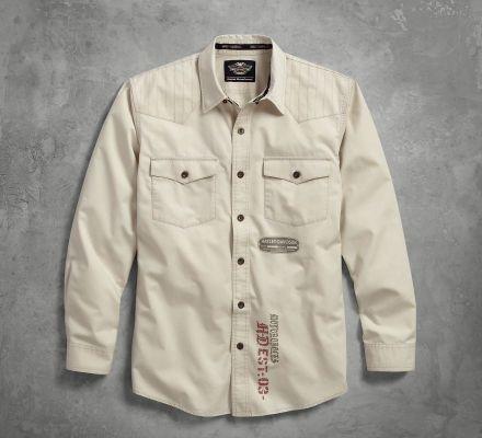 Harley-Davidson® Men's Stitched Yoke Twill Shirt 96406-17VM