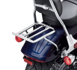Chopped Fender Luggage Rack - Chrome