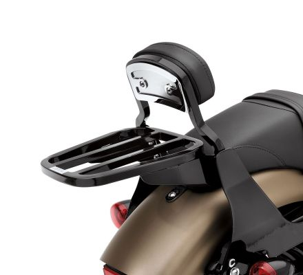Harley-Davidson® Gloss Black Tapered Luggage Rack 53510-07