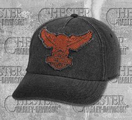 Men's Black Winged Eagle Baseball Cap