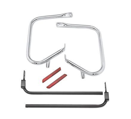 Chrome Rear Saddlebag Guard Kit, Harley-Davidson® 49282-09B