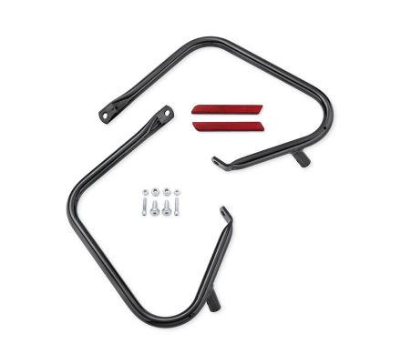 Gloss Black Rear Saddlebag Guard Kit, Harley-Davidson® 49283-09