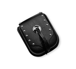 Leather Sissy Bar Bag with Studs