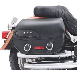 H-D Detachables Leather Saddlebags